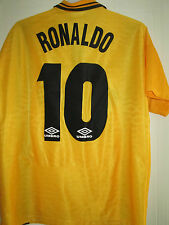 Inter Milan 1997-1998 Ronaldo 10 Away Football Shirt Size Large /39421