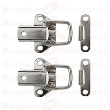 2 x Toggle Catch Case Clip Toolbox Fastener 45mm Chrome Cabinet Flight Box Lids