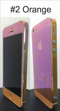 For iPhone 4 Transparent Colour Change Vinyl Sticker  Free Extra Mix Edge Set