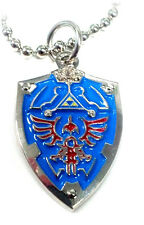 Legend of Zelda Link Hylian Triforce Nintendo Shield Necklace Pendant w/ Chain