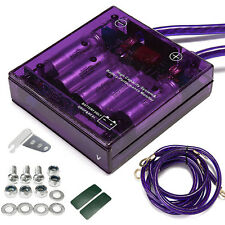 NEW Universal Car Fuel Saver Voltage Stabilizer Regulator Purple 90 x 85 x 25mm