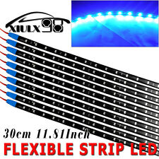 10X 12V Blue High Power 30CM LED Flexible Light Strip Waterproof Car Motor 15SMD