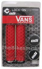 ODI Vans Lock On ATB Grips BMX MTB Hybrid Bike No Flange Black Red White
