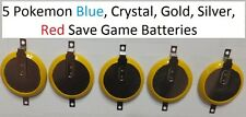 X5 Game Boy (GB) Save Battery CR2032 Tab Pokemon Blue Crystal Gold Silver & Red