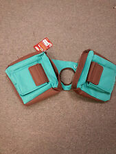Turquoise Brown Trail Saddle INSULATED Multi Pocket Horn Bag Pommel Horse Tack