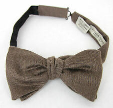 NEW Authentic BOTTEGA VENETA Silk/Cashmere Bow Tie Light Brown 270827 2800