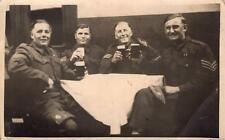 WW2 Sergeants Drinking Beer at Sergeants Mess Soldiers RP Postcard British Army