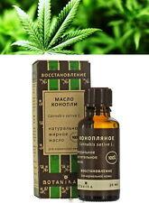 Olio di Cannabis Sativa (semi di canapa) PURO 100% -30ml Hemp oil/Chanvre indien
