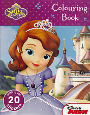 Disney Sofia the First Colouring Sticker Activity Book - NEW