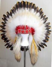 "Native American Navajo War Bonnet Headdress 36"" diameter ""1875 REPLICA"""