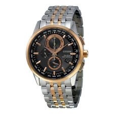 Citizen Perpetual Calender Black Dial Two-Tone Stainless Steel Mens Watch