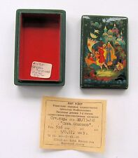QUALITY RUSSIAN LACQUER BOX FROM ESTATE COLLECTION #30