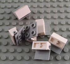 LEGO Lot of 6 White 1x2 Hinge Bricks with 2x2 Tops