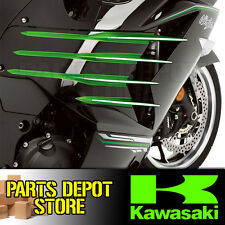 NEW GENUINE KAWASAKI 2012 - 2016 NINJA ZX-14R CHROME FIN ACCENTS 165KRM-0011A