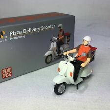 1/64 TINY Pizza Delivery Scooter Bike Hong Kong Figure Included #ATC64121