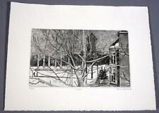 "Frank Stack Signed ""Snow"" Etching (Robert Crumb contemporary)"