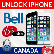 UNLOCKING IPHONE 4 4S 5 5S 5C 6 6+ 6S 6S+ VIRGIN AND BELL CANADA CLEAN IMEI ONLY