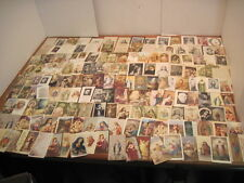 HUGE LOT 155 ANTIQUE VINTAGE CATHOLIC RELIGIOUS HOLY DEATH & PRAYER CARDS