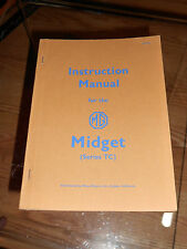 Instruction Manual for the MG Midget Moss Motors AKD 663 1954