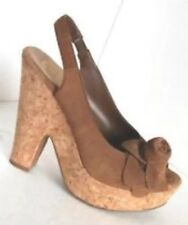 NEW Jessica Simpson Karinax Suede Tan 8 Open Toe Bow Wedges FREE SHIP