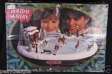 Mr Christmas Holiday Skaters Victorian Animated Musical Display SEE VIDEO