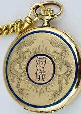 MUSEUM 18k gold&enamel Dragons case Longines CHRONOMETER watch.Chinese market