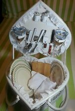 "Vintage ""Picnic Time"" Heart Basket Beautiful Gift For Wedding or Valentine!"