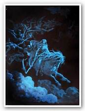 DRUG POSTER Death Rides a Pale Horse Non Flocked Blacklight