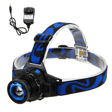 Rechargeable Adjustable Zoom 2000LM R5 LED Headlight headlamp Head Torch Light