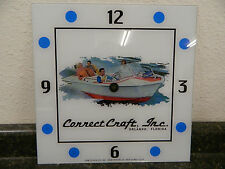 "*NEW* 15"" CORRECT CRAFT BOAT WATERCRAFT SQUARE GLASS clock FACE FOR PAM"