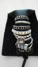 URBAN OUTFITTERS Silvertone Embellished Ring Set of 8 SIZE 5,6,7  #33765538 NWT