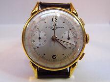 HAU Ulysse Nardin Chronograph Handaufzug läuft Valjoux 22 Vintage vergoldet