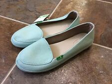 NWT SANUK Women's Blanche Slip On Sandal Shoe Eggshell Blue CanvasSz: 8