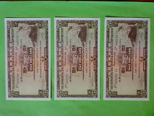 The Hong Kong & Shanghai Banking Corp.1975 $5 Banknote 3pcs Running Number (UNC)