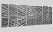 Abstract Modern Silver Metal Wall Art Home Decor - Frozen Tundra - Jon Allen