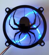 Custom 80mm DROPPING SPIDER Computer Fan Grill Gloss Black Acrylic Cooling Cover