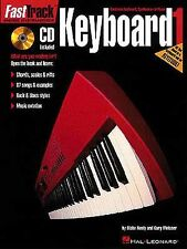 Fast Track Keyboard Learn to Play Beginner Lesson Tutor Easy Music Book 1 & CD