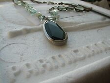 Silpada Sterling Slver Green Pendant Necklace  N1824 $129 Retired!
