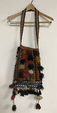 Handmade Carpet Fringe Hippie Boho Hobo Purse Bag Cross Body GC *1