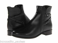 La Canadienne Sharon WATERPROOF Leather Ankle Zip Boot Black Womens 8 NEW IN BOX
