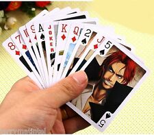 14X7cm One Piece A Deck of Poker Playing Cards Luffy Chopper New Rare 54 pcs Toy