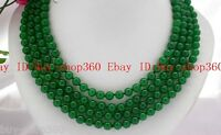 10mm nature round green jade Gems Beads necklace 100 Inch AAA