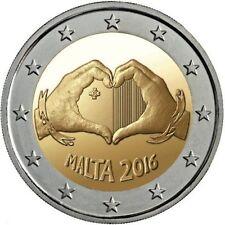 """MALTA 2 EUROS 2016 CONM. - ESCASA - S/C """"EL AMOR"""""""