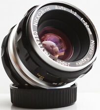 Nikon Nikkor H 50mm F/2 Non-Ai Mount Prime Lens For SLR DSLR M4/3 Camera