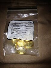 Lot of 7 Vintage Waterbury Co. Brass/Goldtone Buttons -Military?- Flag - NOS/NIP