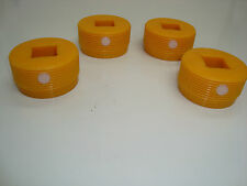 JCB PARTS 3CX PLASTIC ADJUSTER PADS FOR JACK LEG STABILISER SET OF FOUR