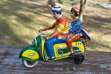 #Antique Tin Toy# Technofix Vespa Scooter Motorcycle Germany  Tippco Gely Arnold