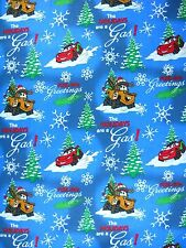 Scrub top Custom DISNEY CARS_ Christmas_Snow_Holiday_Tools_New cotton_Sz XS-3XL