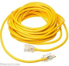 16/3 25 ft Foot 125V SJT Extension Cord LIGHTED End Prong Indoor Outdoor / Use