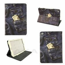 PU Leather Stand Book Case Cover Jeans Pocket Money Design For iPad Mini
